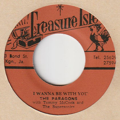 I Wanna Be With You / The Paragons 7′ Treasure Isle (JP) t022