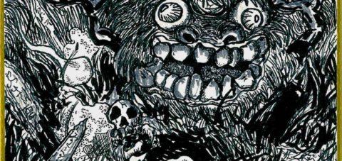 【Yōkai】妖怪博士の晩酌 |02 墓場の魍魎 Goblin of graveyard by ラバブン@妖怪画家