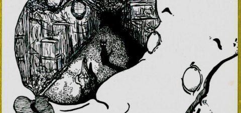 【Yōkai】妖怪博士の晩酌 |03 長面妖女 Long face witch by ラバブン@妖怪画家