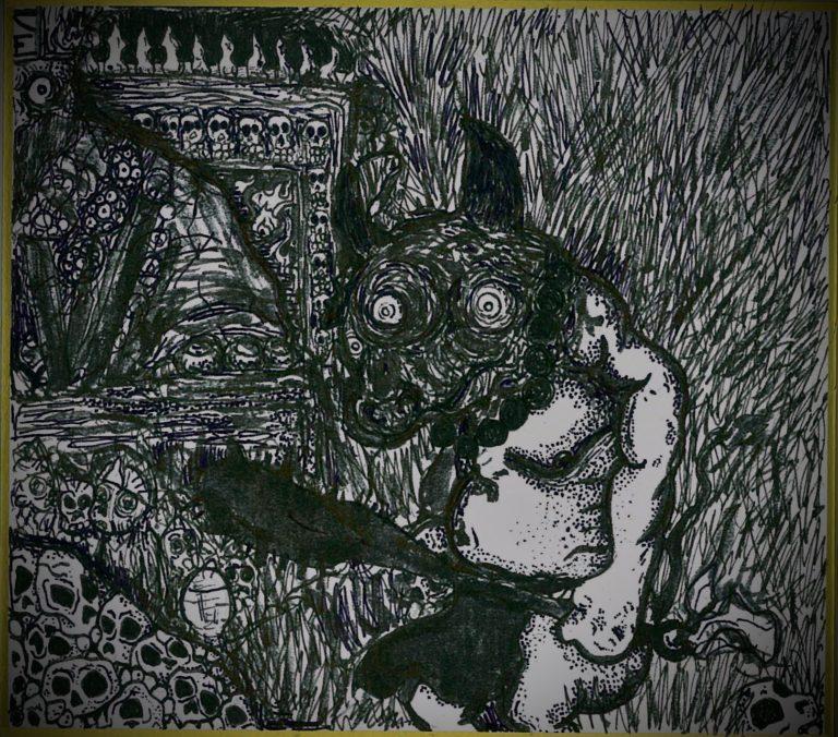 "【Yōkai】妖怪博士の晩酌 |06 牛頭 "" Bull Head"" by ラバブン@妖怪画家"