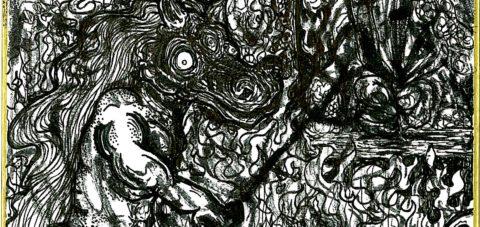 "【Yōkai】妖怪博士の晩酌 |07 馬頭 ""Horse Head"" by ラバブン@妖怪画家"